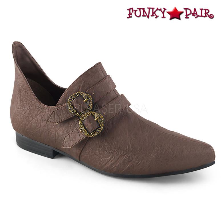 Men's Renaissance Shoes | Funtasma Aldix-20 color Brown faux leather