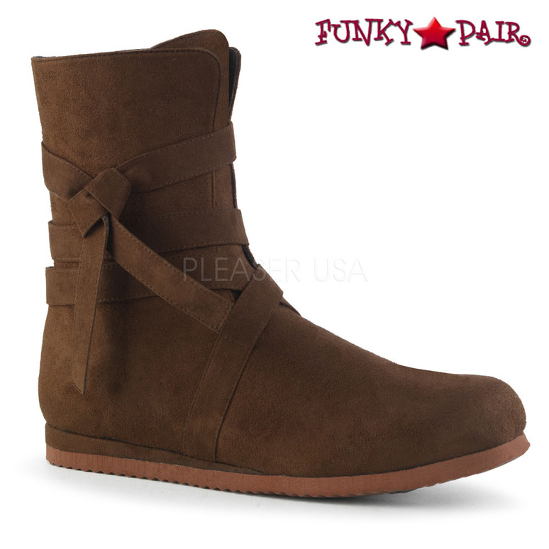 Brown RENAISSANCE-57, Men's Renaissance Boots | Funtasma