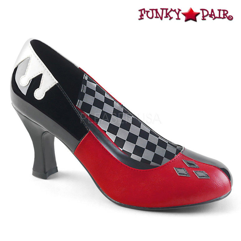 Funtasma | Harley-42, Jester Design Pump Cosplay Costume Shoes