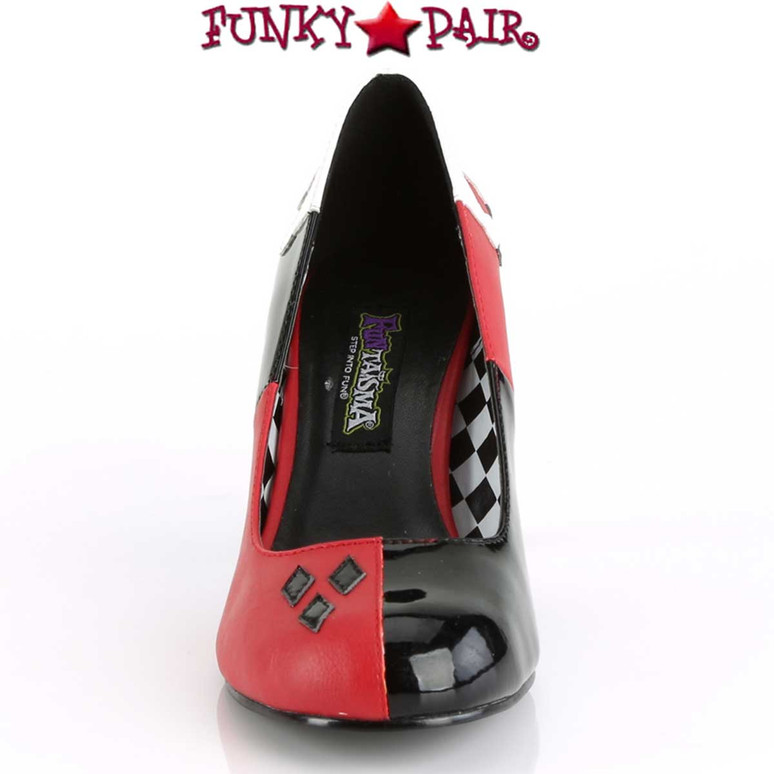 Harley-42,  Front View Quinn Jester Cosplay Pump | Funtasma Costume Shoes