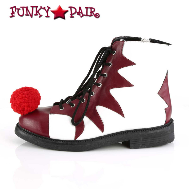 Men's Clown It-100 Shoes | Funtasma Cosplay Shoes Side View
