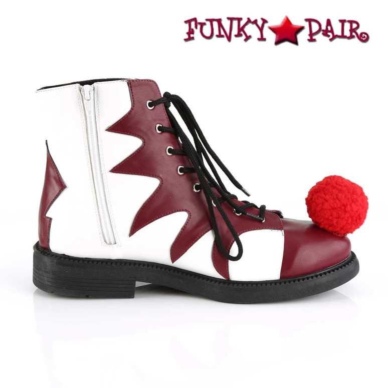Funtasma | It-100, Men's Clown Shoes Zipper Side View