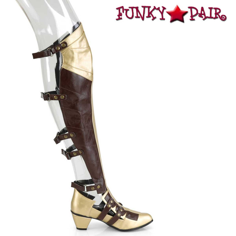 Maiden-8830, Cosplay Over the Knee Boots with Open Back | Funtasma Inner Side View