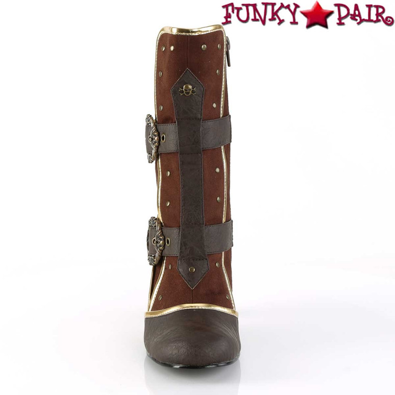 Front View Matey-205, Cosplay Ankle Boots with Octopus Buckle Straps | Funtasma