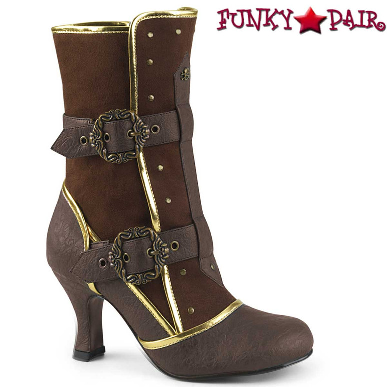 Side View Matey-205, Cosplay Ankle Boots with Octopus Buckle Straps | Funtasma