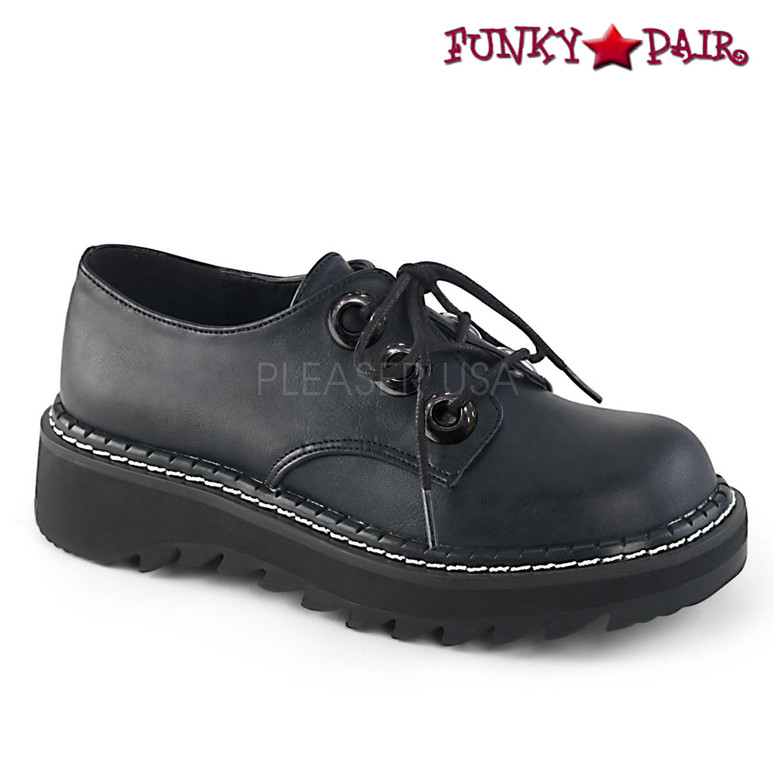 Women Demonia | Lilith-99, Platform Oxford Shoes