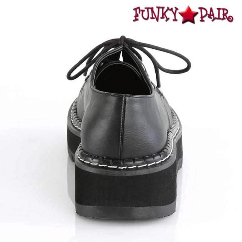 Back View Lilith-99, Platform Oxford Shoes Demonia
