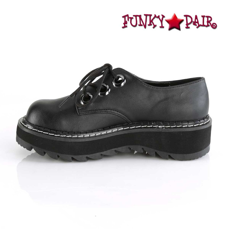 Inner Side View Lilith-99, Platform Oxford Shoes Demonia