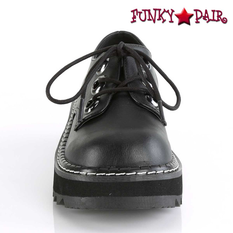 Front View Lilith-99, Platform Oxford Shoes Demonia