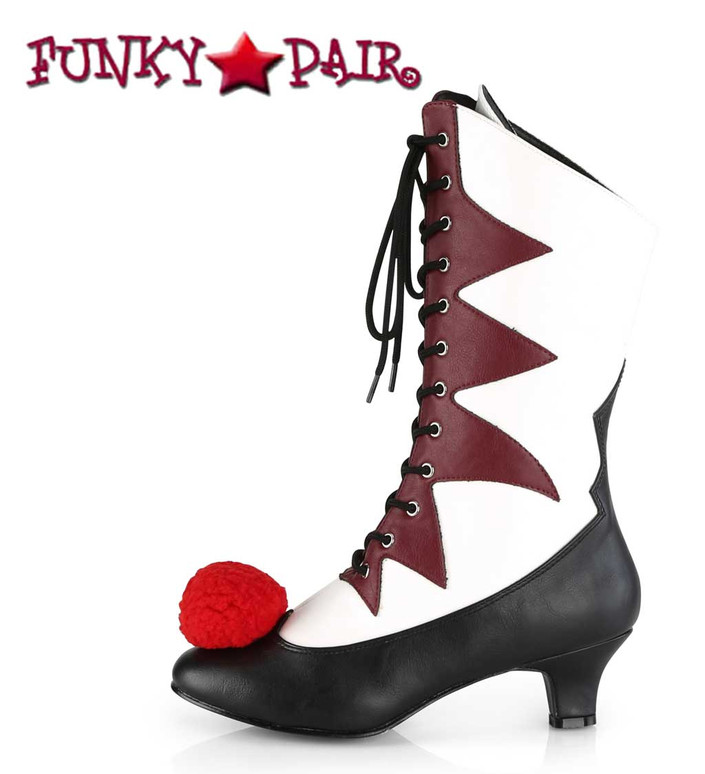 Women's IT-120 Clown Cosplay Boots | Funtasma Side View