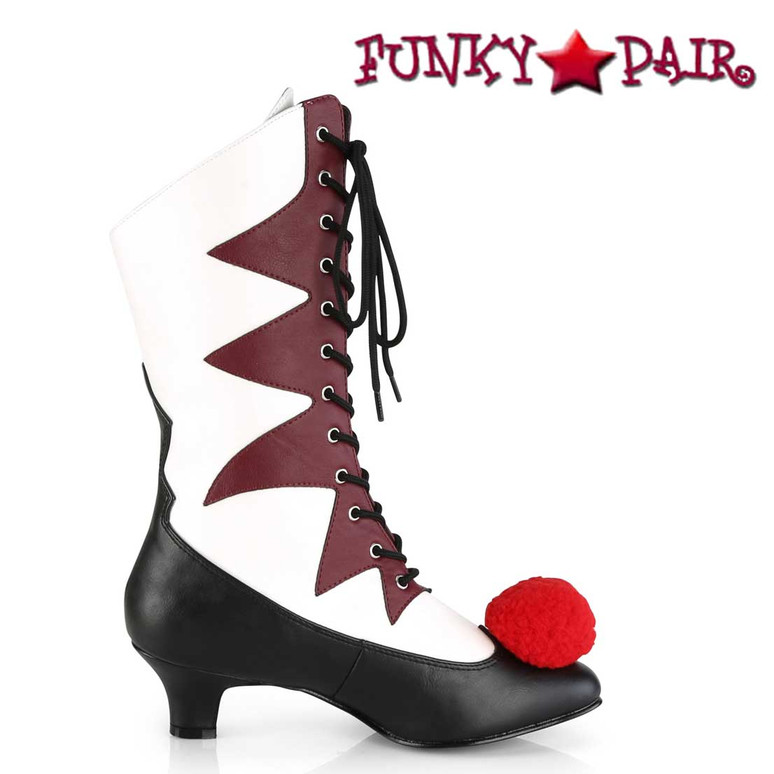 Funtasma | Women's IT-120 Clown Cosplay Boots | Side View