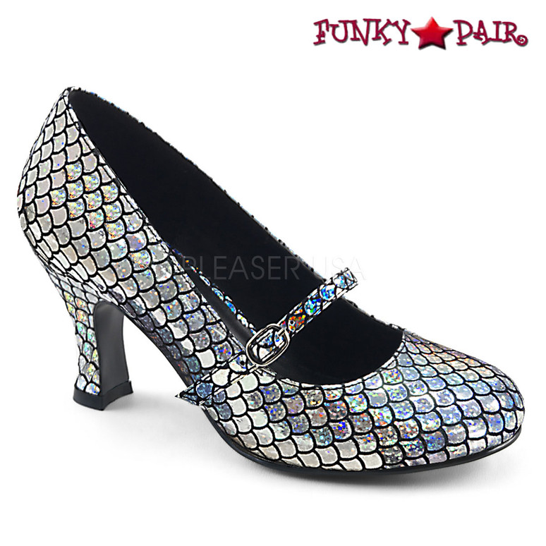 Funtasma | Mermaid-70, Mermaid Mary Jane Color Silver