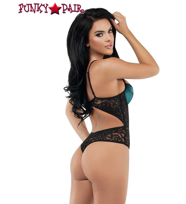 Starline Lingerie | Lace and Satin Teddy (SL9008) Back View