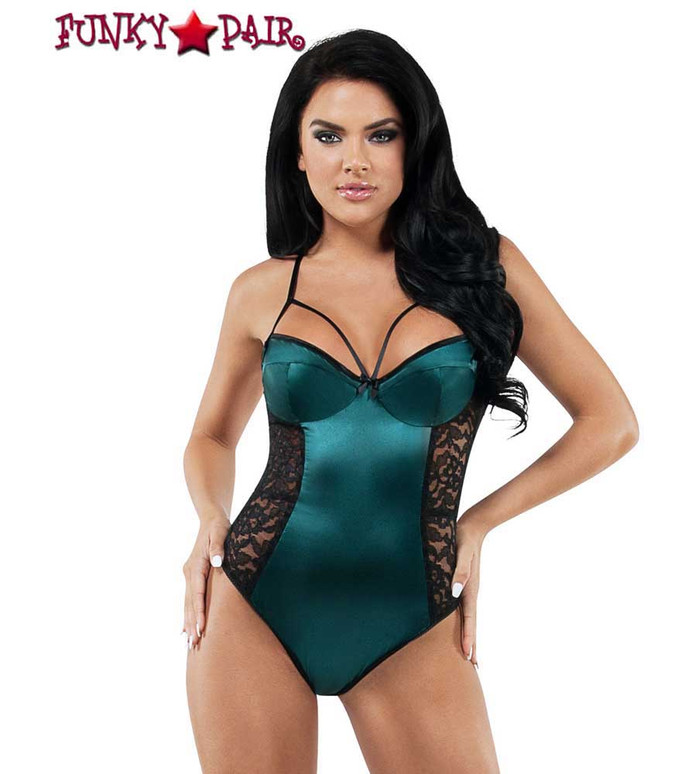 Starline Lingerie | Lace and Satin Teddy (SL9008) | FunkyPair.com