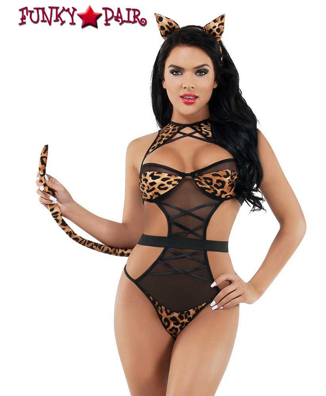 Forplay Night Time Leopard Set by Starline Lingerie
