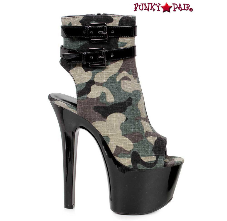 Sexy Military Camouflage Ankle Boots | Ellie 711-Cadet | FunkyPair.com
