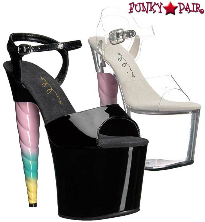 Ellie Shoes 777-Dashing   Unicorn Heel Platform Sandal