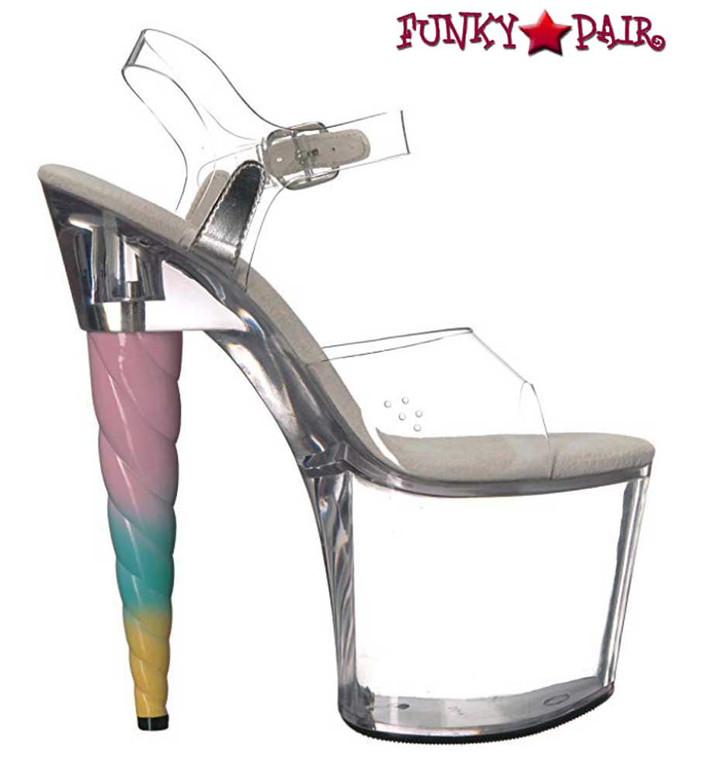 Clear Unicorn Heel Platform Sandal | Ellie Shoes 777-Dashing