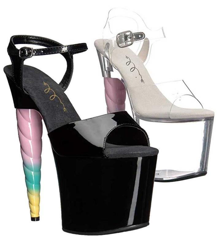 Unicorn Heel Platform Sandal   Ellie Shoes 777-Dashing