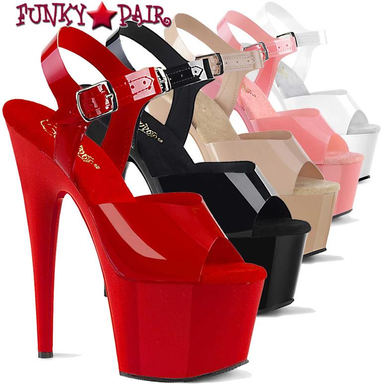Pleaser   Adore-708N, 7 Inch Jelly Like Ankle Strap Platform Sandal