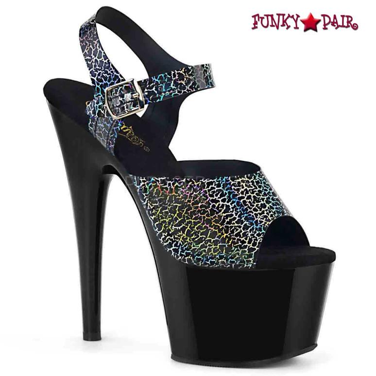 Pleaser   Adore-708N-CK, Ankle Strap Platform Sandal color black