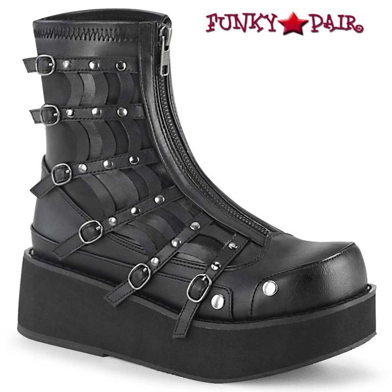 Demonia Boots | SPRITE-100, Platform Zip up Ankle Boots