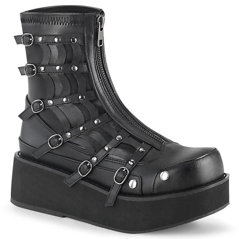 Gothic Platform Zip up Ankle Boots Demonia SPRITE-100