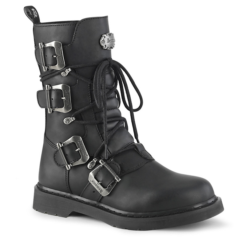 Mid-Calf Multi Buckles Combat Boots Men's Demonia | BOLT-265,