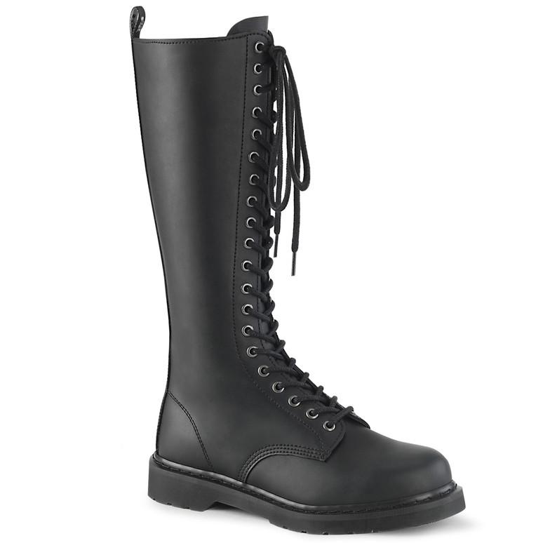 Knee High Lace up Combat Boots Men's Demonia   BOLT-400,