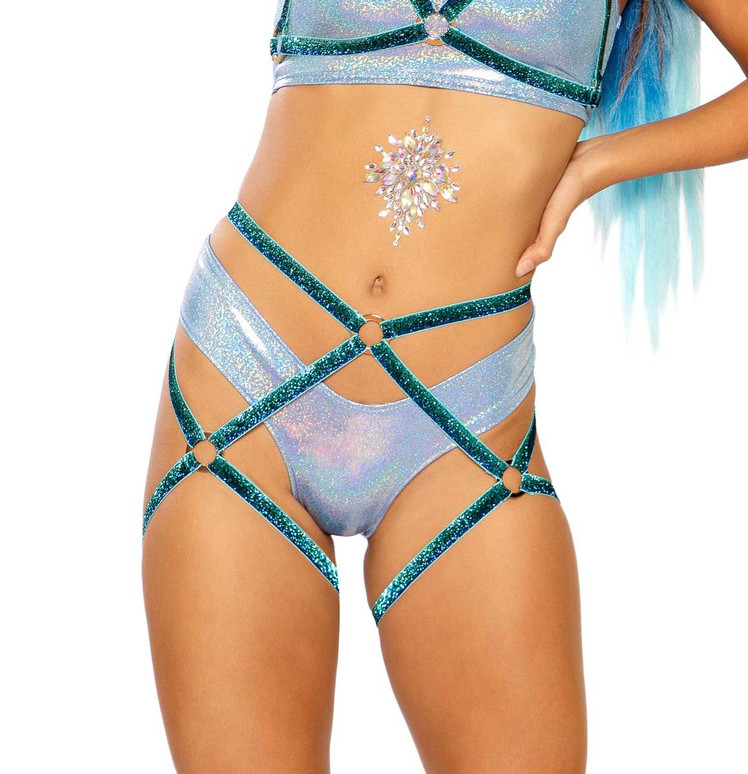 Harness Bottom by J Valentine JV-FF277 color blue fade