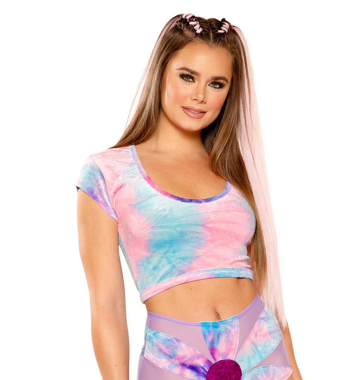 Tie-Dye Crop Top by J Valentine JV-FF154 color Cotton Kandi