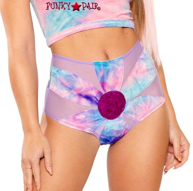 J Valentine JV-FF156, Tie-Dye  Daisy Raver Short cotton kandi