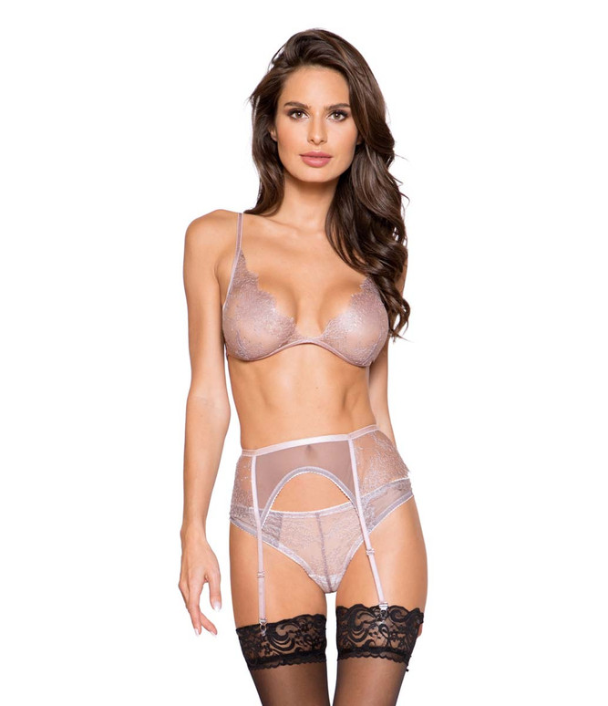 Roma Lingerie | LI261, 3pc Garter Set