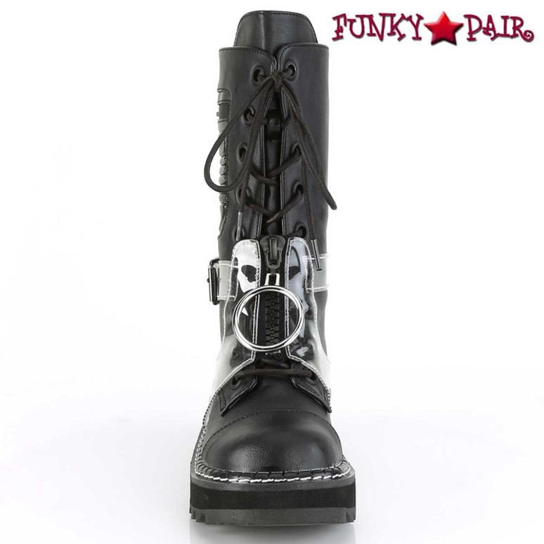 Demonia Boots | Lilith-271, Front View Mid-Calf Lace-up Boots