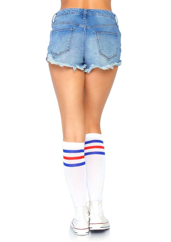 Athletic Striped Knee Highs Leg Avenue | LA-5614 color red/blue