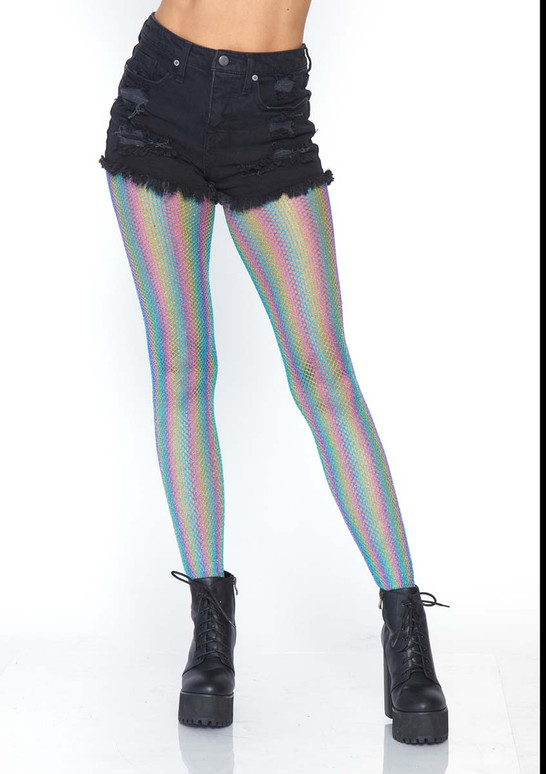 Rainbow Fishnet Tights LA-9308