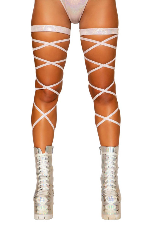 RAVER Baby Pink LEG STRAP with Attached Garter R-3671