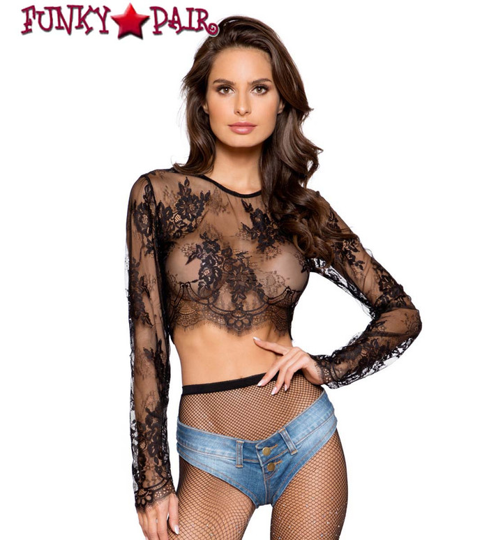 LACE CROP TOP | Roma R-LI299