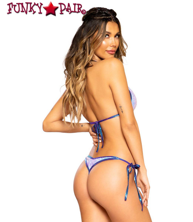 Roma R-3715 BIKINI TIE SET color Pink Blue back view