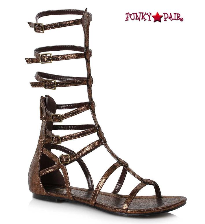 Women Flat Mid Calf Gladiator Sandal Ellie Shoes 015-Zena color bronze