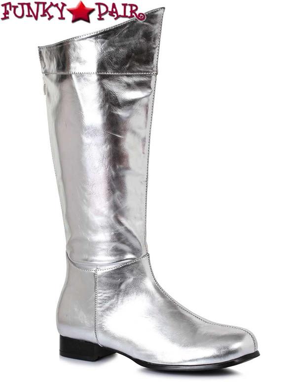 Men Superhero Silver Boots | Ellie Shoes 121-Rex