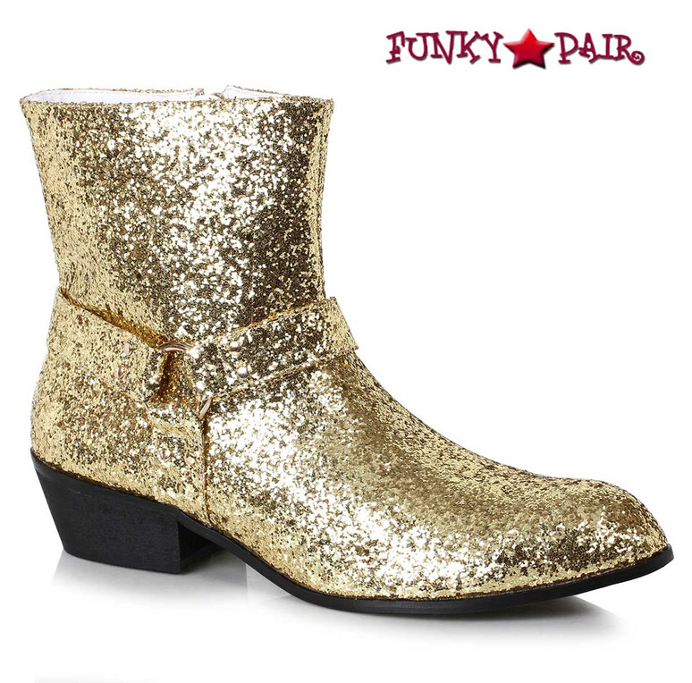 Men's Gold Glitter Boots | Ellie Shoes 129-Fever
