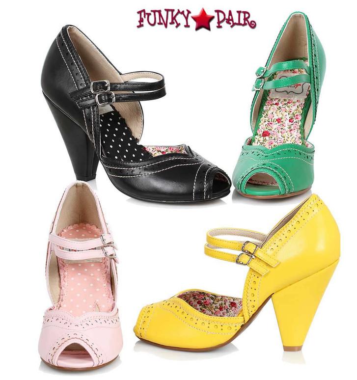 Bettie Page   BP403-Nellie, Chunky Heel Maryjane Platform Sandal