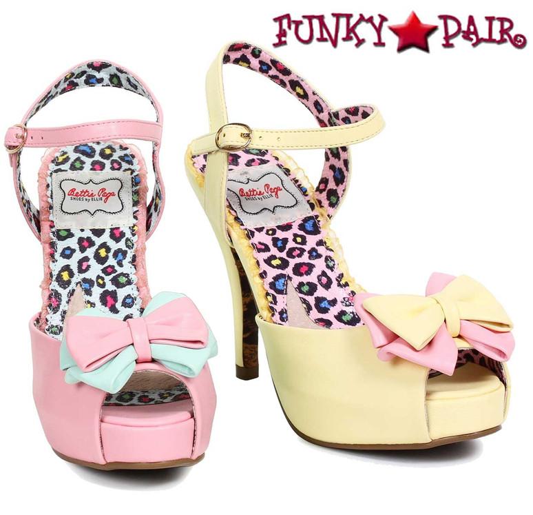 Bettie Page | BP412-Vixen, Peep Toe Bow Sandal