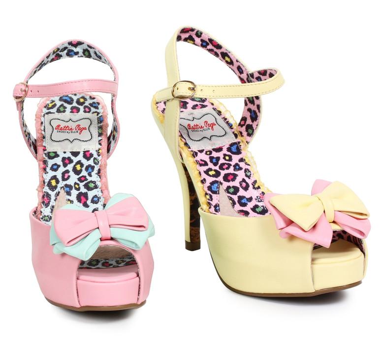 Peep Toe Bow Sandal  Bettie Page | BP412-Vixen