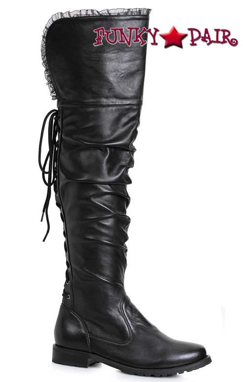 Ellie Shoes 181-Tyra Scrunch Over-the Knee Boots