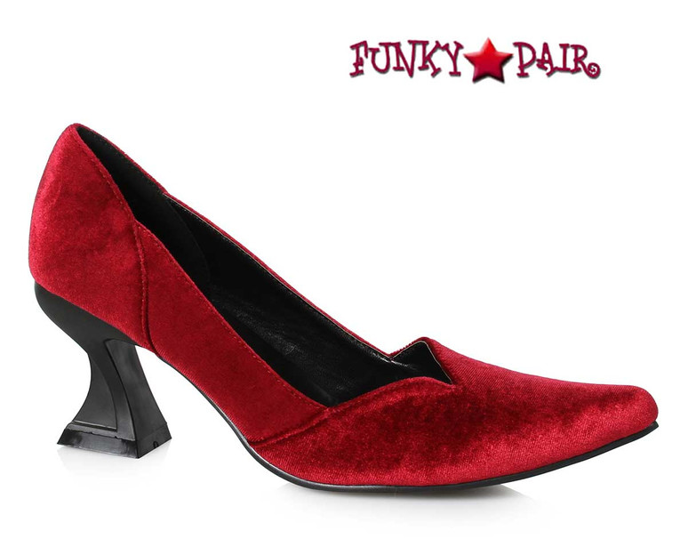 Red Velvet Witch Pump | Ellie Shoes 301-Vivian