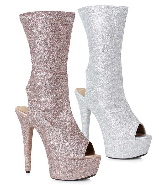 Peep Toe Ankle Booties | Ellie Shoes 609-Harper