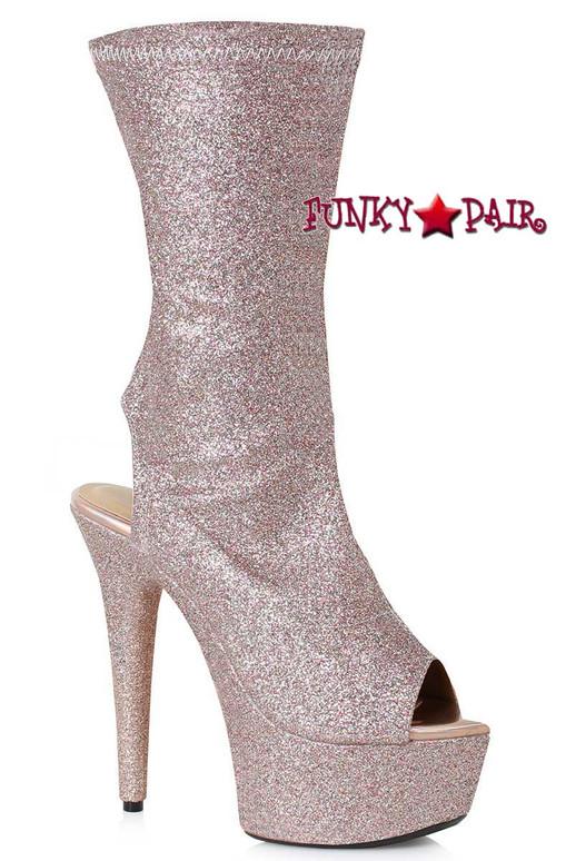 Champagne Peep Toe Ankle Booties | Ellie Shoes 609-Harper