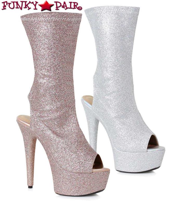 Ellie Boots 609-Harper Peep Toe Ankle Booties